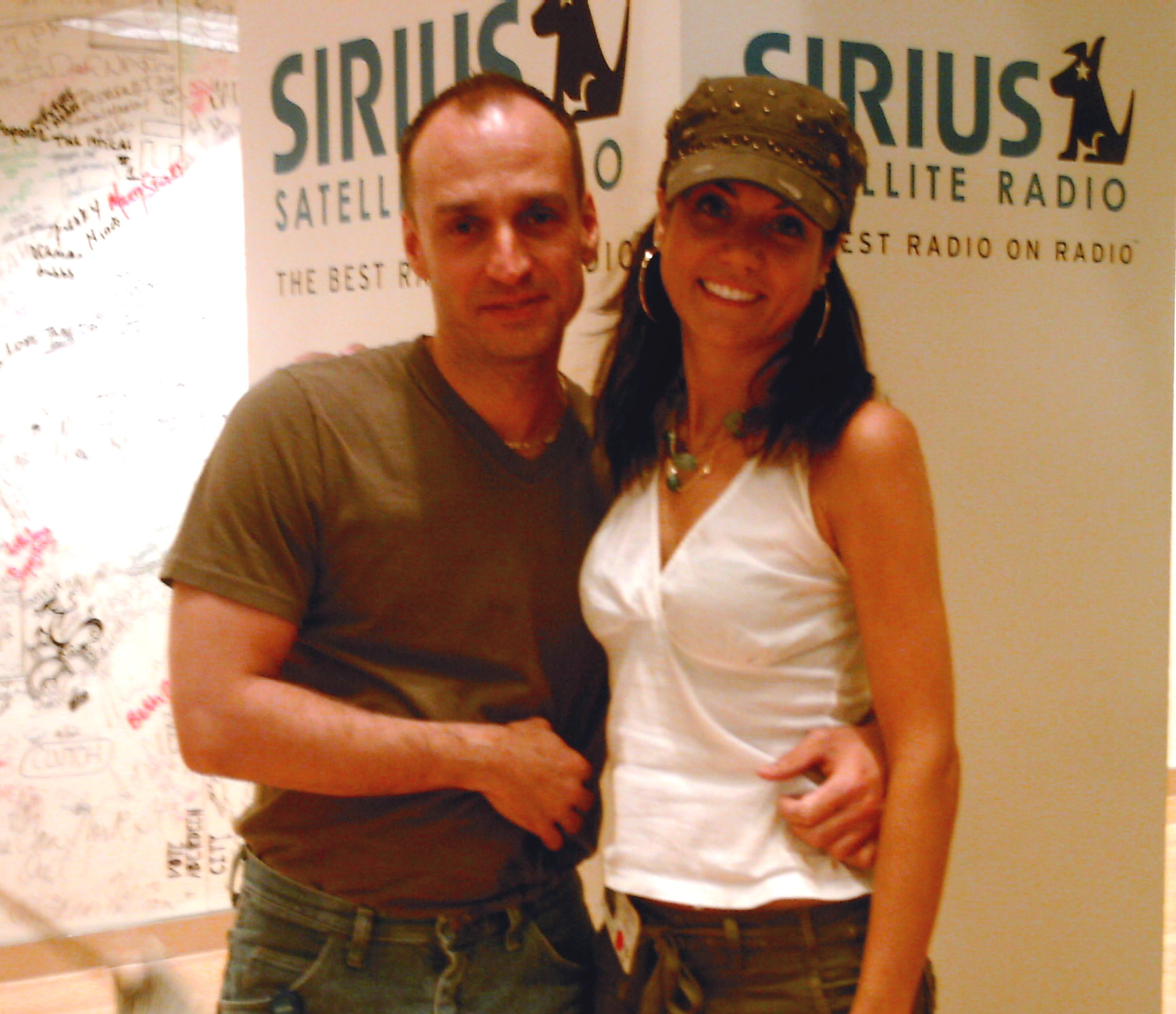 At Sirius with Randi Driscoll.